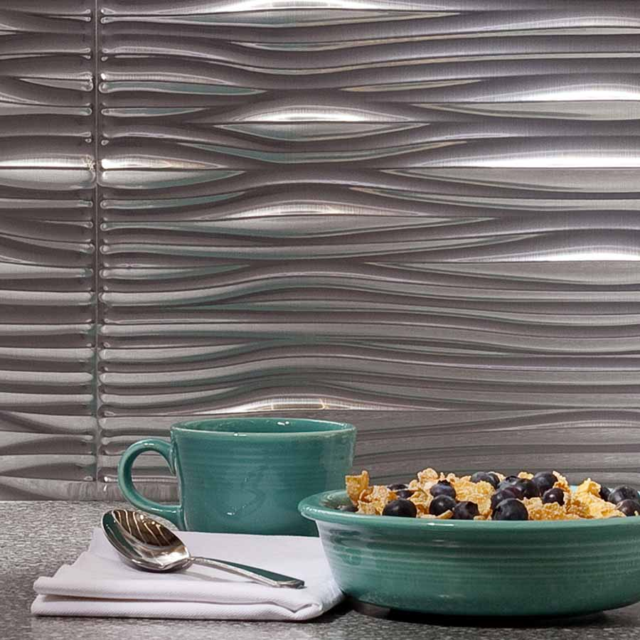 Fasade's Waves in Brushed Aluminum