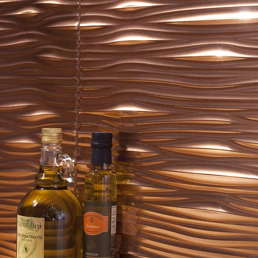 Fasade's Waves in Polished Copper