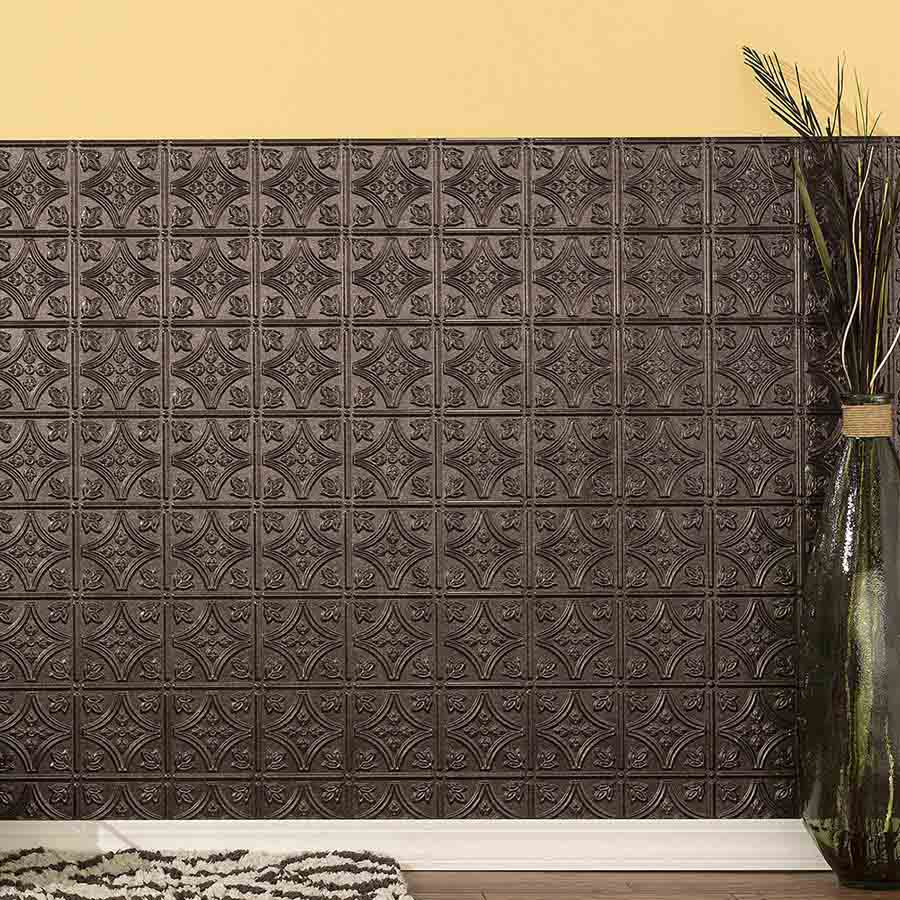 Fasade's Traditional 1 Wall Panel in Smoked Pewter