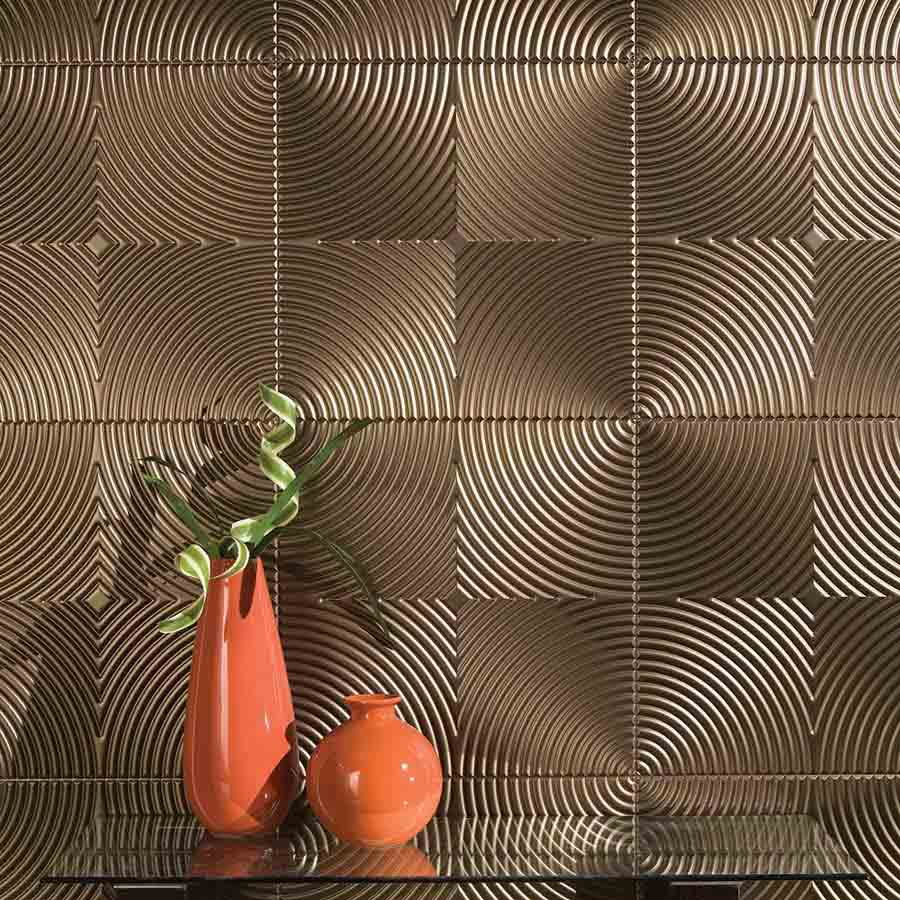 Fasade's Echo Wall Panel in Oil-Rubbed Bronze