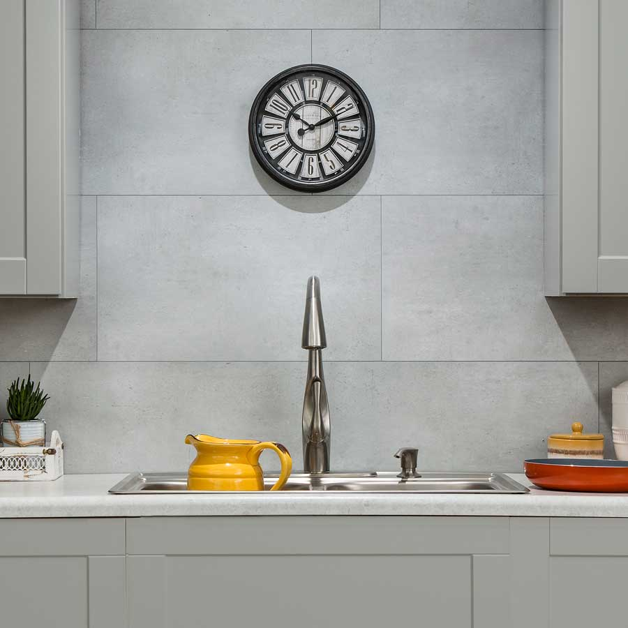 Palisade Wall Tile (Large Profile) in Frost Nickel