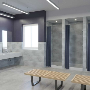 Palisade Wall Tile (small profile) in Frost Nickel