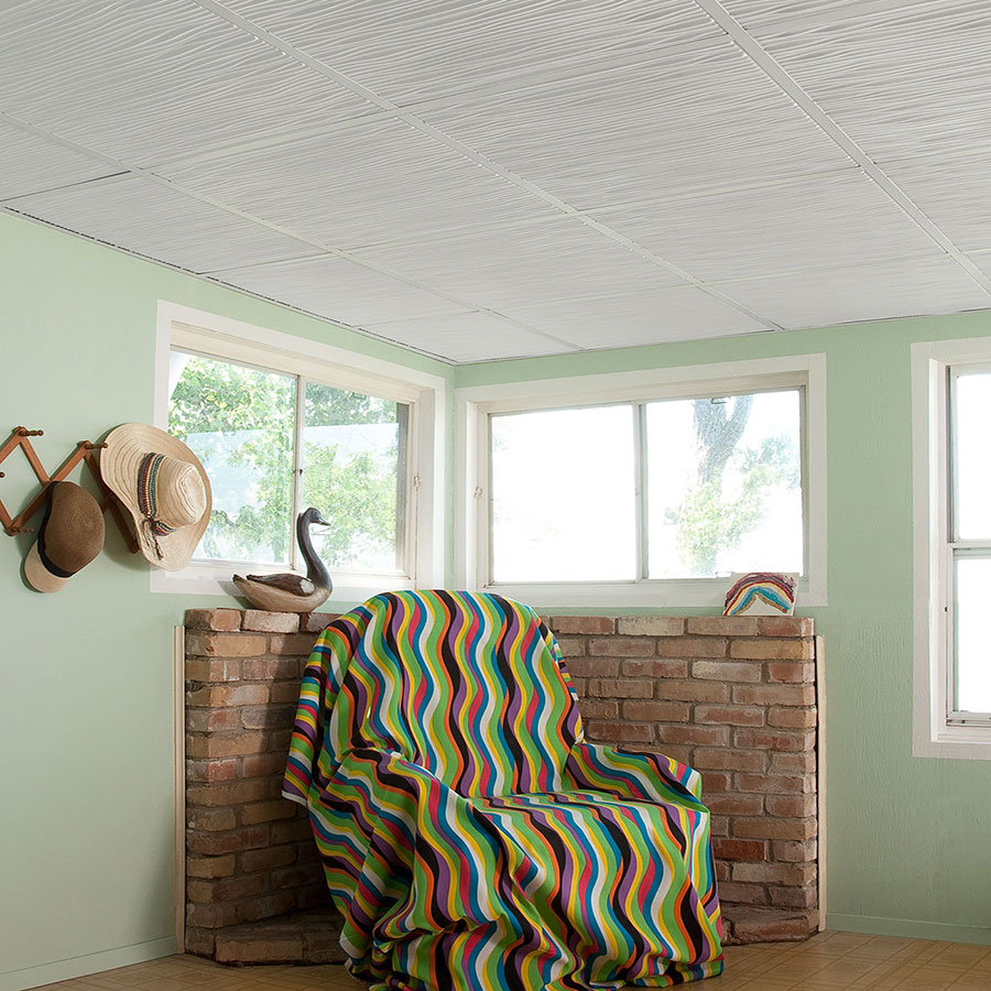 Genesis 2x2 Suspended Ceiling Tile - Drifts in White