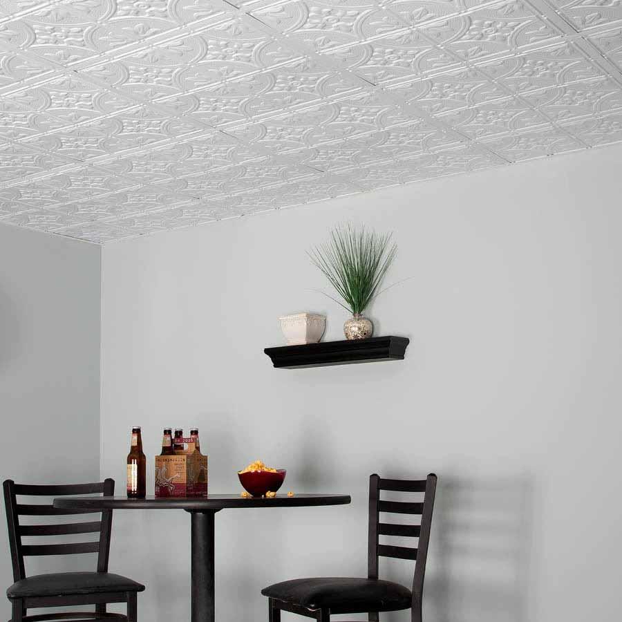Genesis 2x2 Ceiling Tile - Antique in White