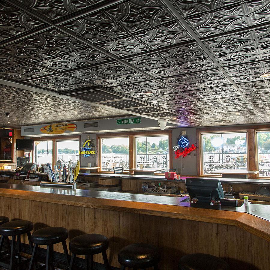 Genesis 2x4 Suspended Ceiling Tile - Antique in Black