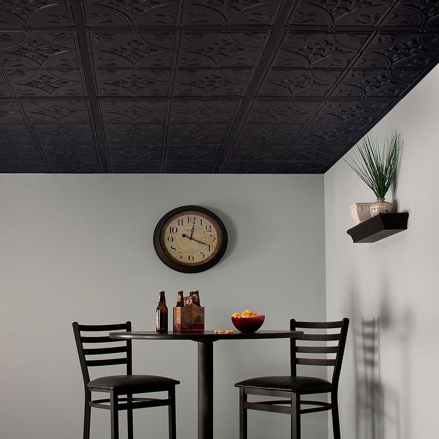 Genesis 2x2 Direct Apply Ceiling Tile - Antique in Black