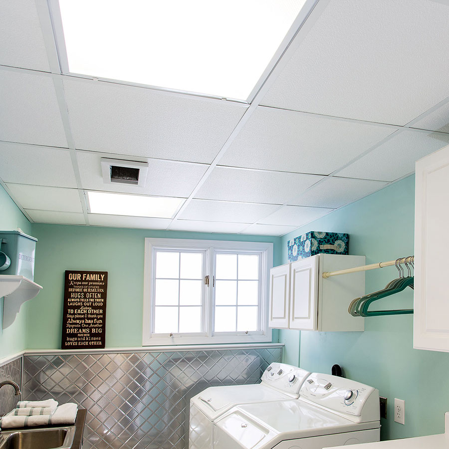 Genesis 2x2 Suspended Ceiling Tile - Stucco Pro in White