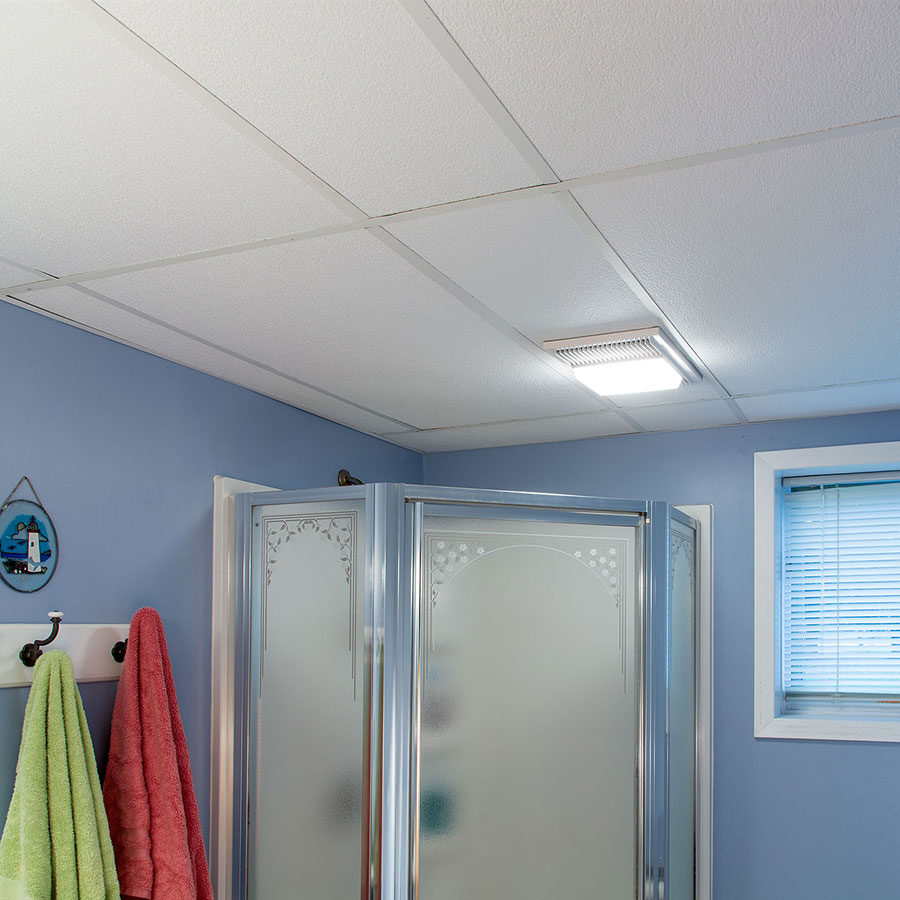 Genesis 2x4 Suspended Ceiling Tile - Stucco Pro in White
