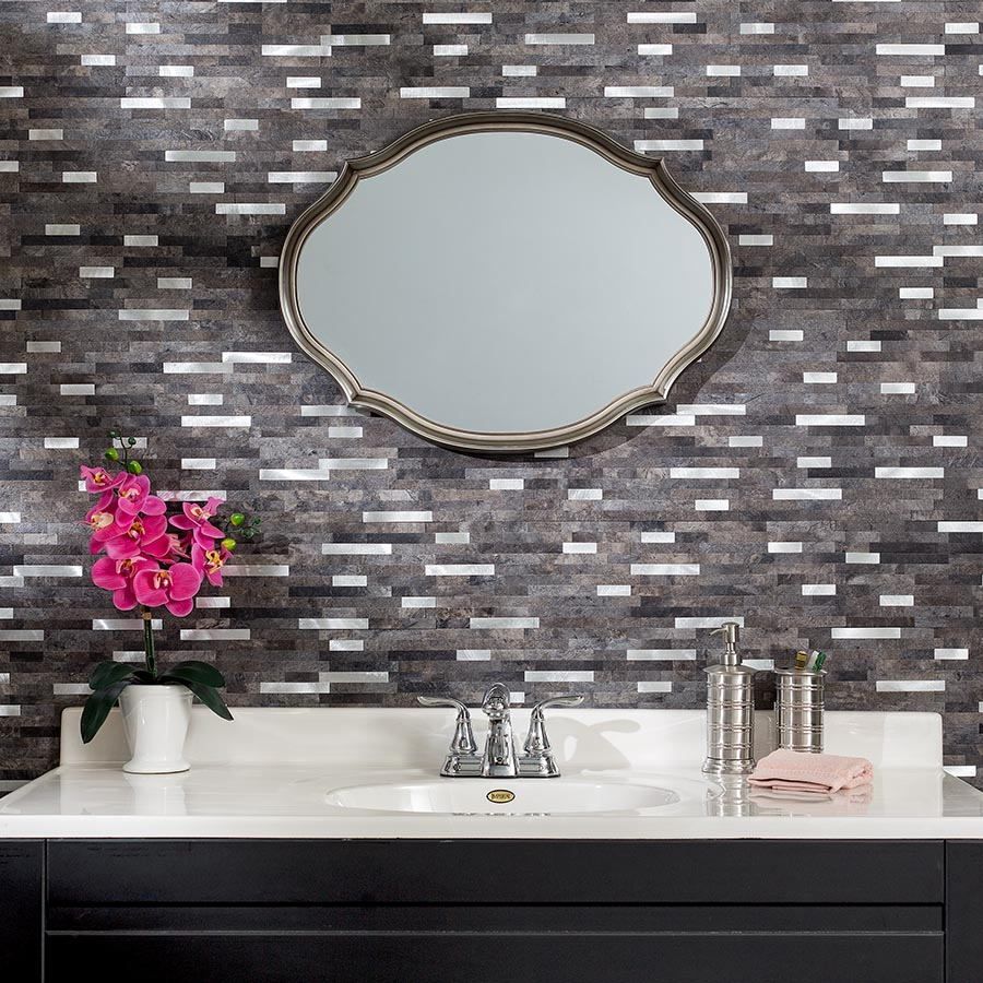Aspect Peel and Stick Collage Tiles in Oyster
