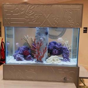 Eco Reef Aquarium - Fasade Alphabet Wall Tile in Argent Silver