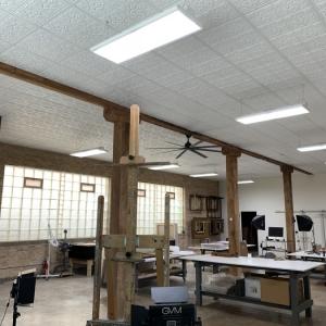 Baumgartner Fine Art Studio - Genesis Antique Ceiling Panels in White