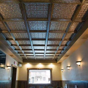 Joe's Fox Hut - Fasade Traditional 1 Ceiling Tiles in Cracked Copper