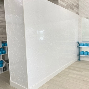 TriTone Fit - Fasade Audrey Wall Panel in Gloss White