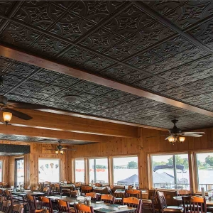 Fin & Feather - Genesis Antique Ceiling Panels in Black