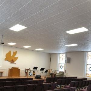 Calvary Chapel of Dayton - Genesis Antique Ceiling Panels in White