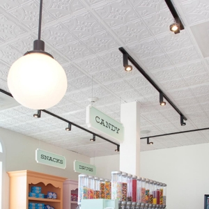 Joe's Crab Shack - Genesis Antique Ceiling Panels in White
