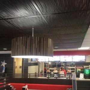 Carl's Jr. - Genesis Drifts Ceiling Panels in Black